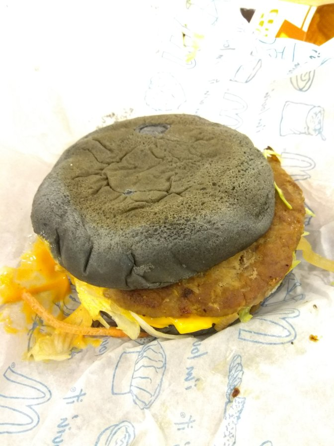 McD black spicy korean burger