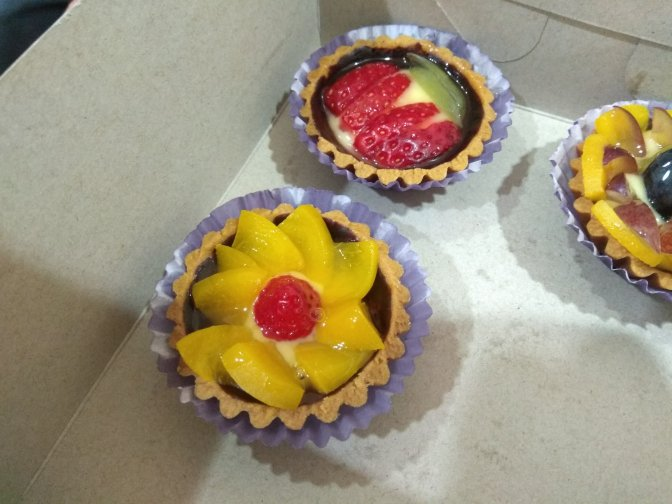 Fruit tart handmade