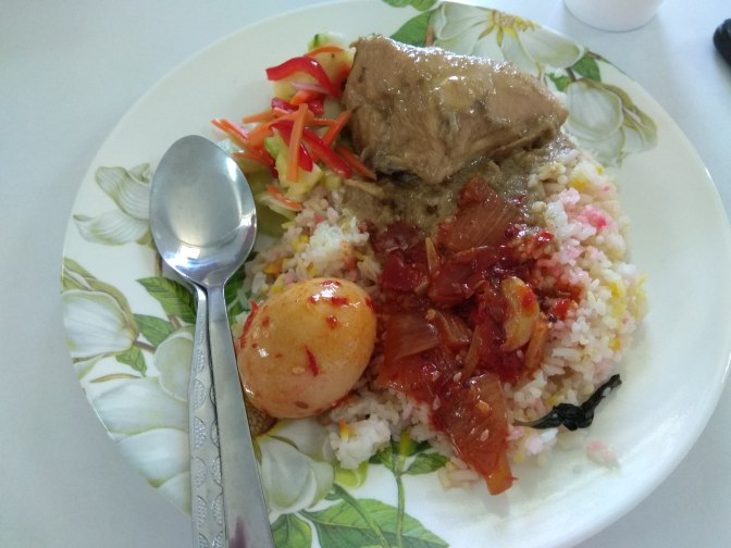 Kurma chicken Malay rice