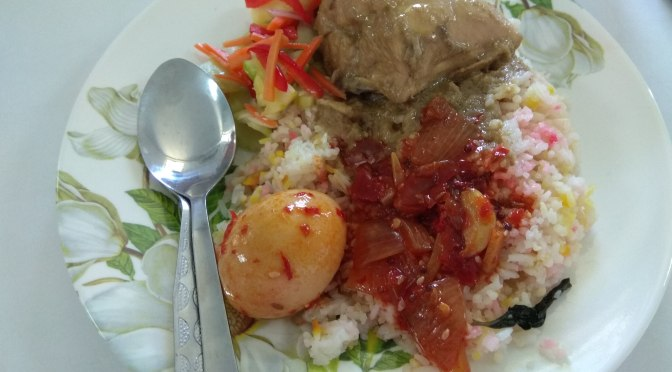 Kurma chicken Malay rice