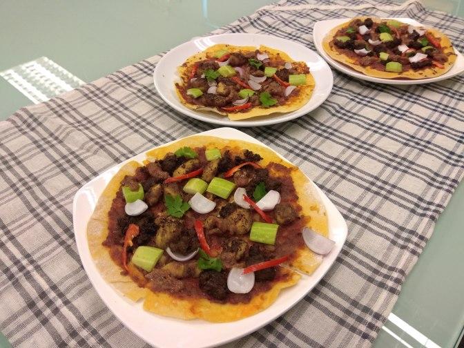 Beef Satay pizza
