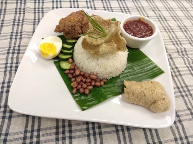 Nasi lemak with JoyAmaze Fried chicken