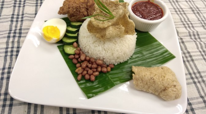 Nasi lemak with JoyAmaze Fried chicken