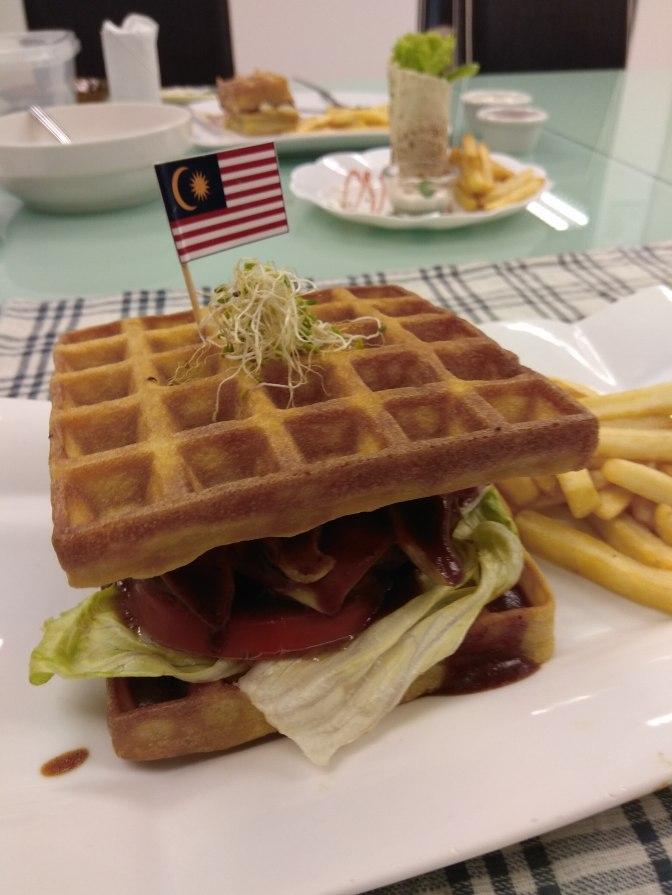 JoyAmaze Waffle Beef Burger