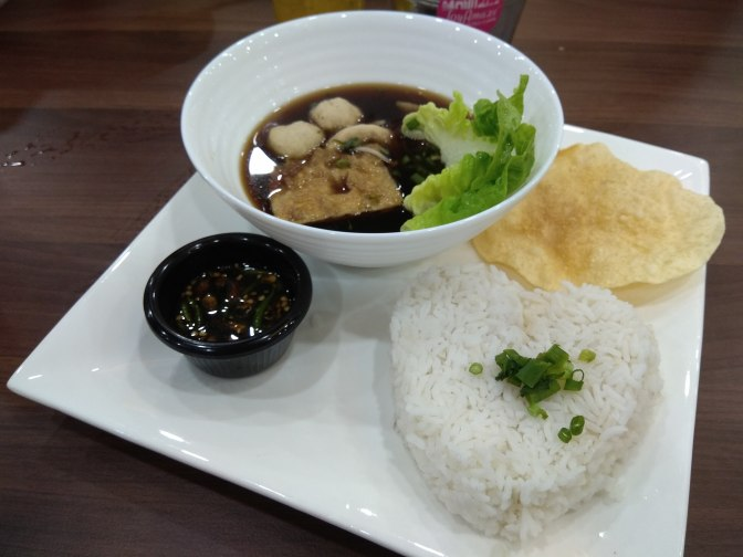 Basic Chi Kut Teh rice set